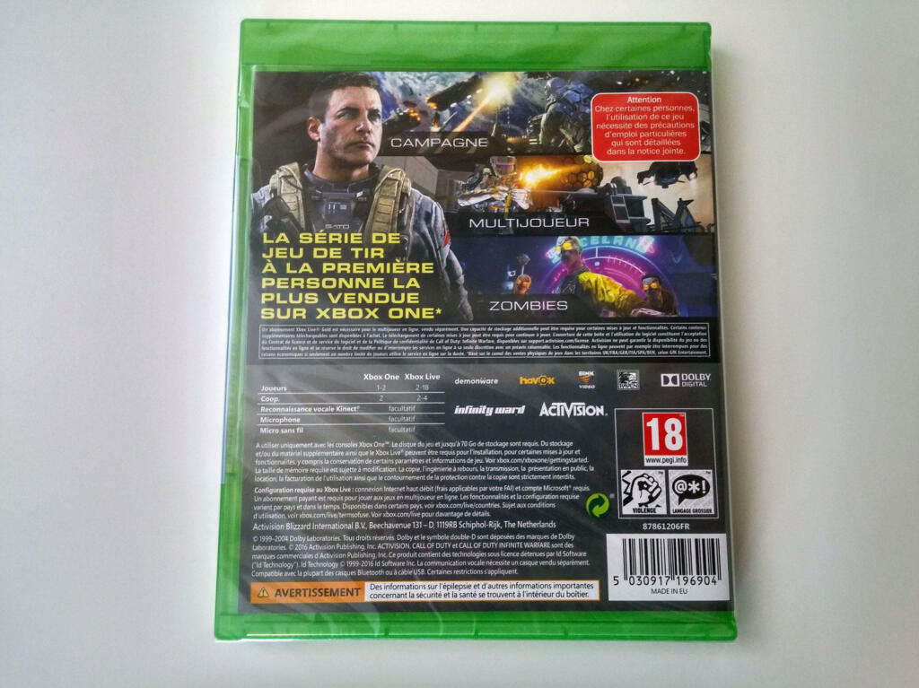 call of duty infinite warfare xbox one acheter vendre sur r f rence gaming. Black Bedroom Furniture Sets. Home Design Ideas