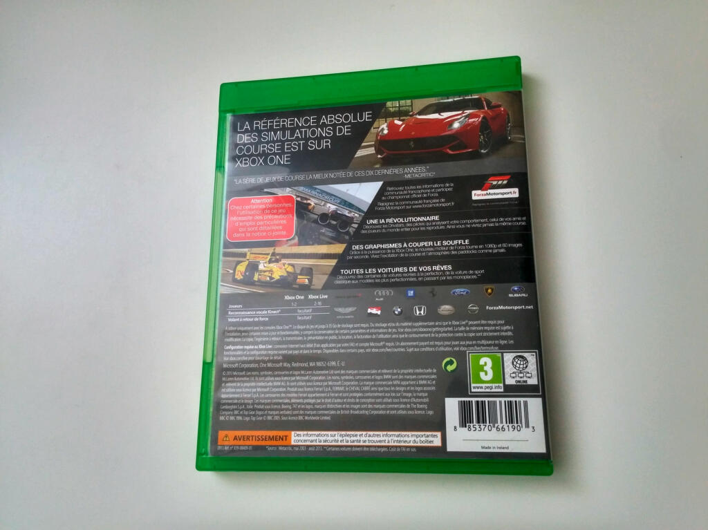 forza motorsport 5 xbox one acheter vendre sur r f rence gaming. Black Bedroom Furniture Sets. Home Design Ideas