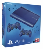Console PS3 Ultra slim 500 Go Bleue + 2 manettes dualshock 3