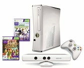 Console XBOX 360 Slim 4 Go + Kinect blanche + Kinect adventures