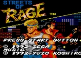 Streets Of Rage - Game Gear