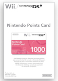 Carte à point Nintendo (1000 nintendo points) - WII