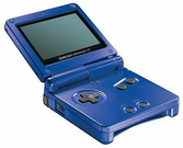 Game Boy Advance SP Bleu