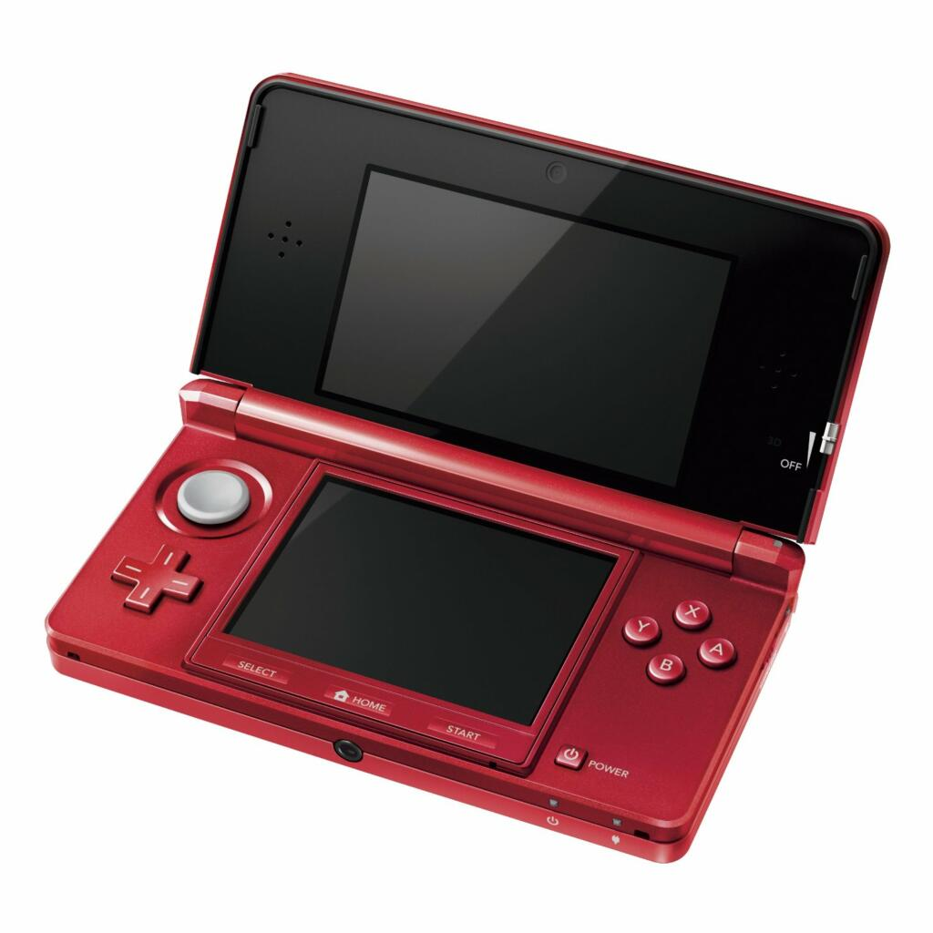 console nintendo 3ds rouge m tal 3ds acheter vendre sur r f rence gaming. Black Bedroom Furniture Sets. Home Design Ideas