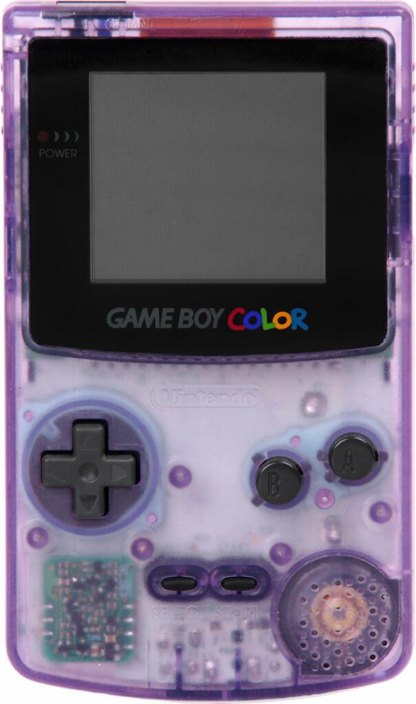 game boy color violet transparent acheter vendre sur. Black Bedroom Furniture Sets. Home Design Ideas