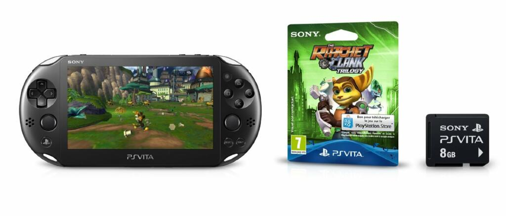 console ps vita wifi the ratchet clank trilogy ps vita acheter vendre sur r f rence gaming. Black Bedroom Furniture Sets. Home Design Ideas