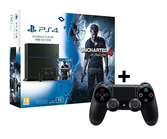 Console PS4 + Uncharted 4 A Thief's End + 2 Manettes DualShock 4 - 1To