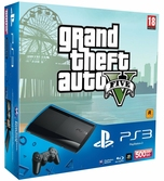 Console PS3 Ultra Slim 500 Go + GTA V + PSN PLUS 30 jours