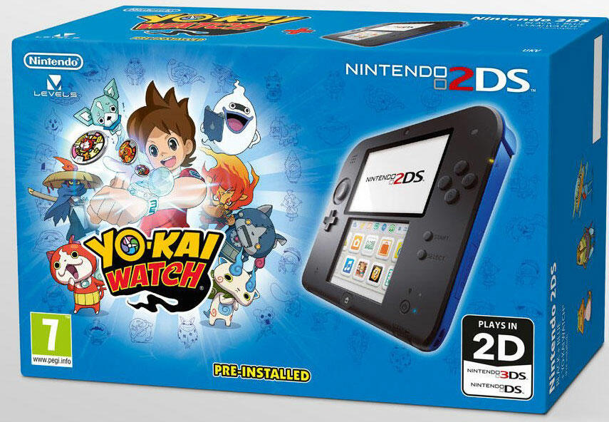 2ds noire yo kai watch acheter vendre sur r f rence gaming. Black Bedroom Furniture Sets. Home Design Ideas
