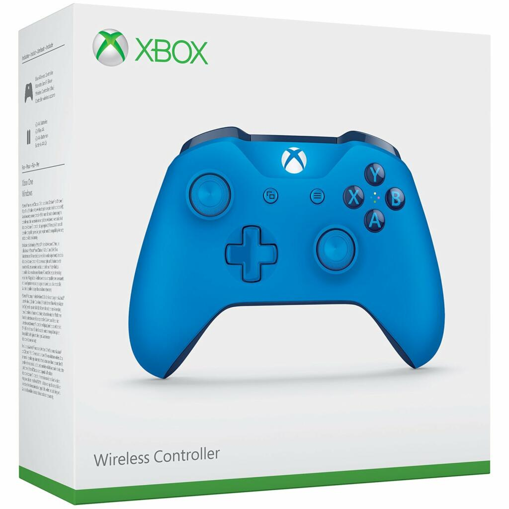 manette sans fil bleu xbox one pc acheter vendre sur r f rence gaming. Black Bedroom Furniture Sets. Home Design Ideas