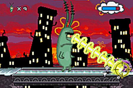 Bob L Eponge La Créature Du Crabe Croustillant Game Boy