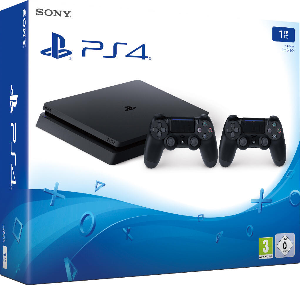 console ps4 slim 2 manettes dualshock 4 v2 1 to. Black Bedroom Furniture Sets. Home Design Ideas