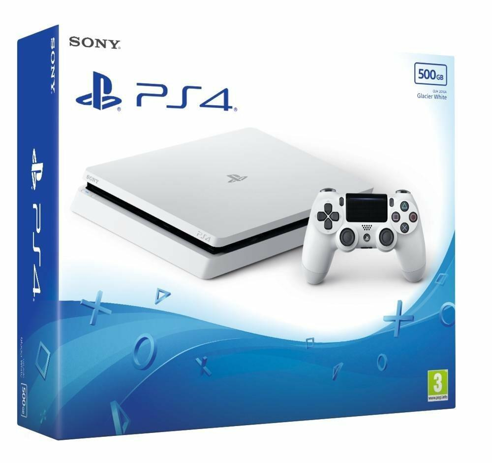console ps4 slim blanche 500 go acheter vendre sur. Black Bedroom Furniture Sets. Home Design Ideas