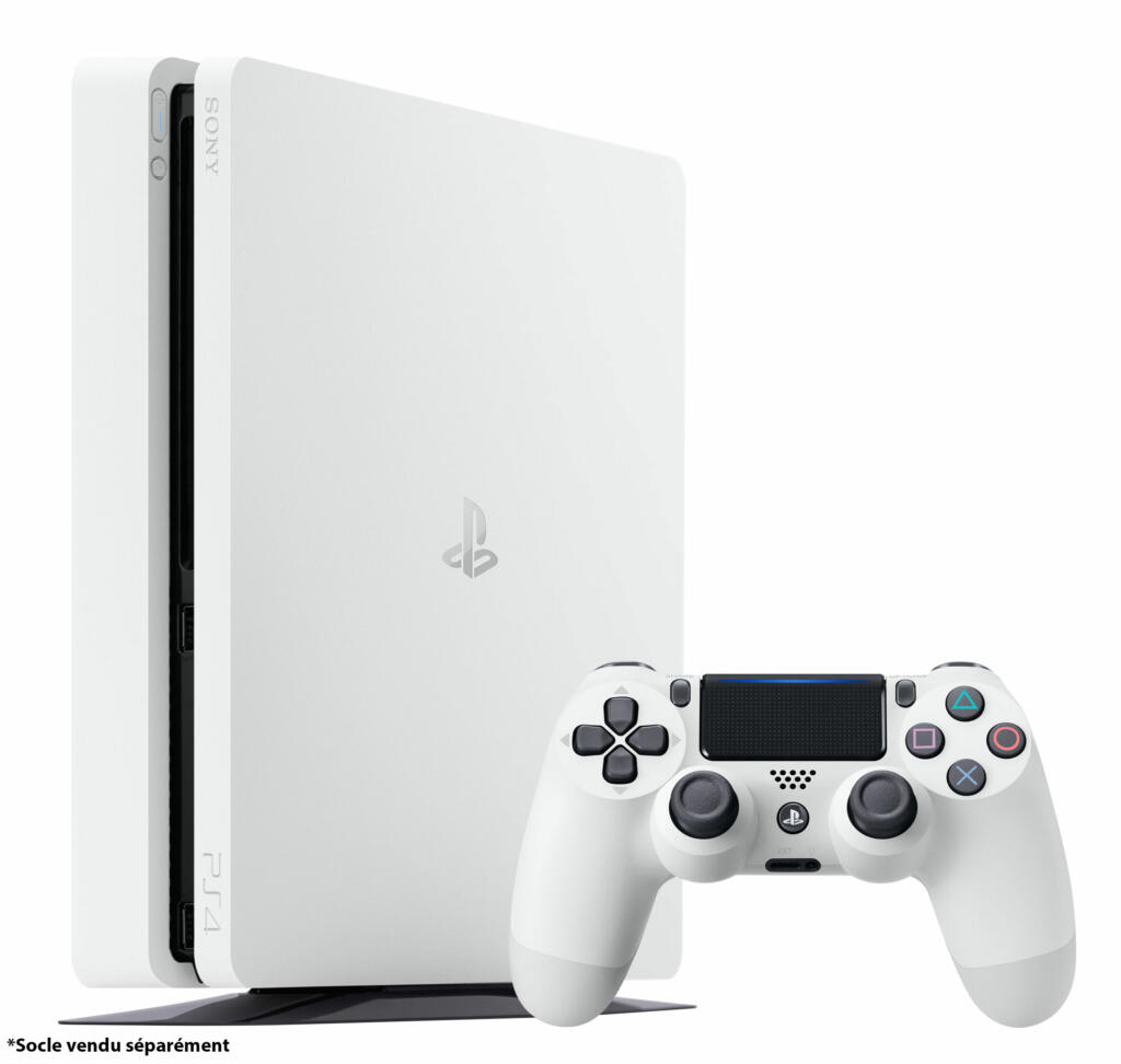 console ps4 slim blanche 500 go acheter vendre sur r f rence gaming. Black Bedroom Furniture Sets. Home Design Ideas
