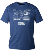 T-Shirt Retour Vers Le Futur DeLorean Blueprint - S