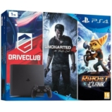 Console PS4 Slim + Uncharted 4 + Ratchet & Clank + Drive Club - 1 To