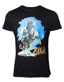 T-shirt zelda breath of the wild : Link sur son cheval - XXL