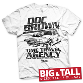 T-Shirt Retour Vers Le Futur : Doc Brown Time Travel Agency - 5XL