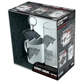 GAME OF THRONES - Coffret Cadeau (Verre + Porte Cles + Mini-Mug)