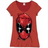 DEADPOOL - MARVEL T-Shirt Head - GIRL (XL)