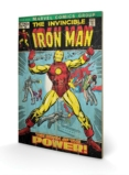 MARVEL - Impression sur Bois 40X59 - Iron Man Birth of Power