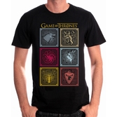 GAME OF THRONES - T-Shirt Badges of the King (M)