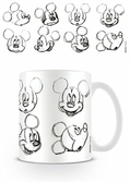 DISNEY - Mug - 300 ml - Mickey Mouse Sketch Faces