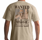 ONE PIECE - T-Shirt Basic Homme Wanted Ace (S)