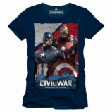 CIVIL WAR - T-Shirt Whose Side Are You On - Navy (XL)