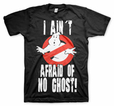 GHOSTBUSTERS - T-Shirt I Ain't Afraid of No Ghost - Black (M)