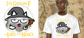 GEEK Collection - T-Shirt NEKO GANDALF - Blanc (XL)