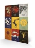 GAME OF THRONES - Impression sur Bois 40X59 - Sigils