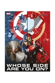 MARVEL CIVIL WAR - Poster en Verre - Whose Side Are You - 30X40 Cm