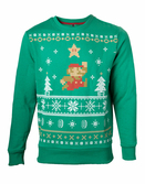 NINTENDO - Sweater Jumping Mario Christmas (L)