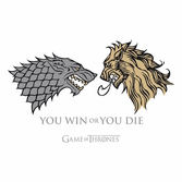 GAME OF THRONES - T-Shirt Lannister VS Stark Homme (M)