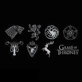 GAME OF THRONES - T-Shirt Sigles Homme (M)