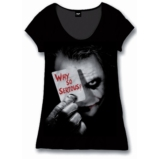 BATMAN - T-Shirt BATMAN Dark Knight Why So Serious GIRLS (L)