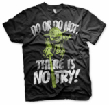 STAR WARS - T-Shirt There is No Try YODA - Black (L)