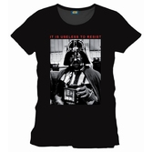 STAR WARS - T-Shirt Darth Vader Resist - Black (L)