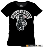 SONS OF ANARCHY - T-Shirt SOA Death Reapper Patch BLACK (XL)