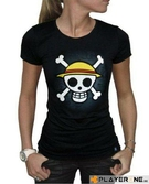 ONE PIECE - T-Shirt Basic Femme SKULL WITH MAP - Black (M)