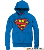SUPERMAN - Sweat Zip Logo Grunge Homme - Cobalt (M)