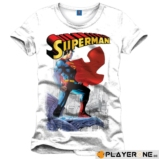 SUPERMAN - T-Shirt Daily Planet White (S)