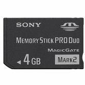 Carte Mémoire Memory Stick PRO Duo 4 Go - Sony