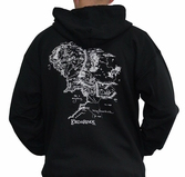 LORD OF THE RING - Sweat Carte Homme Noir (M)