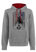 ASSASSIN'S CREED 3 - Sweatshirt - Flag and Connor Grey (M)