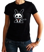 SKELANIMALS - T-Shirt JACK Femme Black Basic (XL)