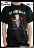 SIMPSONS - T-Shirt Homme Used Black Bart (S)