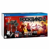 Rock Band 4 + Guitare sans fil + Batterie + Micro - PS4