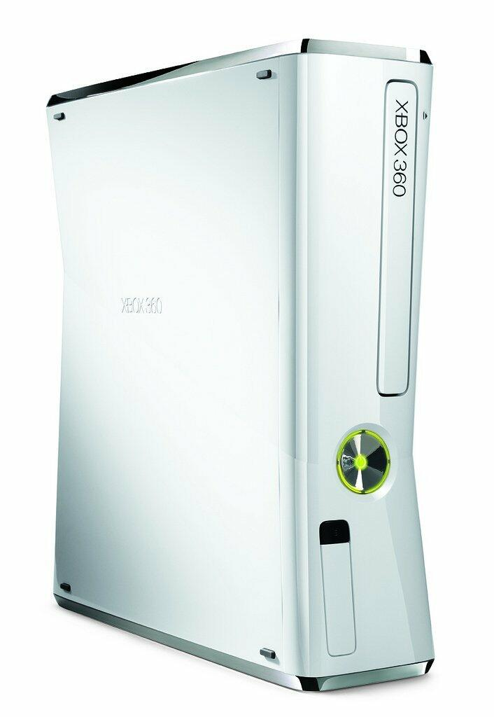 console xbox 360 slim blanche 320 go acheter vendre sur. Black Bedroom Furniture Sets. Home Design Ideas